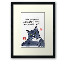 Life with a Cat Framed Print