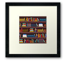 Book pattern Framed Print