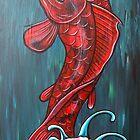 Red Koi by HiddenCityArt