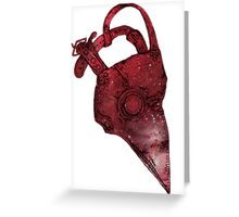 Plague Doctor Mask Greeting Card
