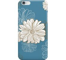 Seamless Pattern With Hand Drawn Camomiles iPhone Case/Skin