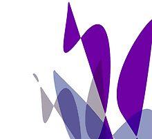 Purple & White Graphic iPhone/iPod & iPad by GJPart