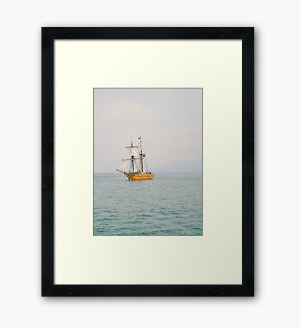 Sailing With The Tide Framed Print