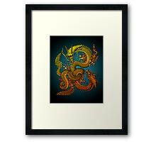 Twin dragons Framed Print