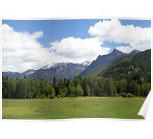Cabint Mountians Montana Poster