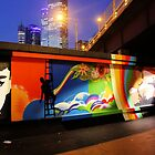 Southbank Tribute Graffiti Wall (melb) by Niamh Scally