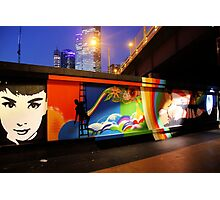 Southbank Tribute Graffiti Wall (melb) Photographic Print