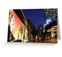 Southbank Tribute Graffiti Wall Crown Entry (melb) Greeting Card