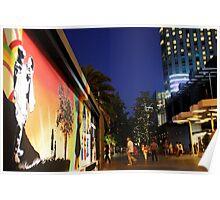 Southbank Tribute Graffiti Wall Crown Entry (melb) Poster