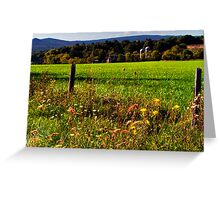 Yonder Lies the Pastures Greeting Card