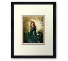 Lady with Fan -revision Framed Print