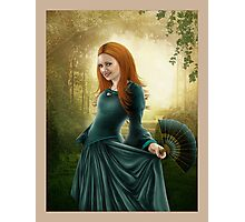 Lady with Fan -revision Photographic Print