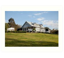 Riverbank house on Paterson River, Paterson, NSW Art Print