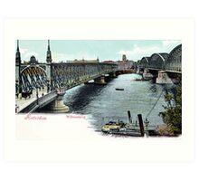Vintage Rotterdam Oude Willemsbrug 1890 Art Print