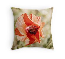 Shivers in Red Throw Pillow