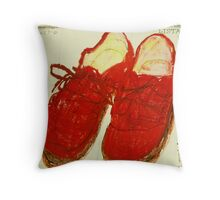 red shoes Throw Pillow