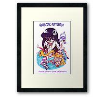 Sailor Saturn Framed Print