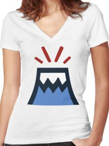 Great Teacher Onizuka - Volcano Women's Fitted V-Neck T-Shirt