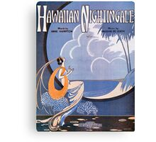HAWAIIAN NIGHTINGALE (vintage illustration) Canvas Print