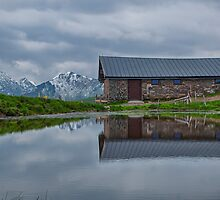 High Pasture Farmhouse Reflected by Nigel Jones