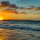 LOSSIEMOUTH - SUNSET HIGH TIDE by JASPERIMAGE