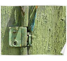 Very Old Door Lock Poster