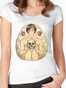 BBC Sherlock: I owe you a flower crown card Women's Fitted Scoop T-Shirt