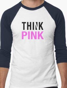THINK PINK Men's Baseball ¾ T-Shirt