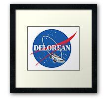 Delorean Nasa Logo Framed Print