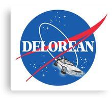 Delorean Nasa Logo Canvas Print