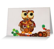 Spirograph Owl! Greeting Card