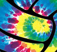 Tie Dyed Volleyball Sticker