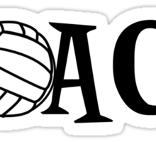 Volleyball Coach Sticker