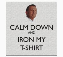 Calm Down and Iron My T-Shirt Abbott by wolfcat