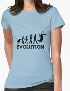 Evolution of a Volleyball Player Womens Fitted T-Shirt