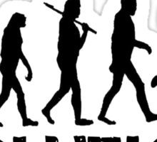 Evolution of a Volleyball Player Sticker