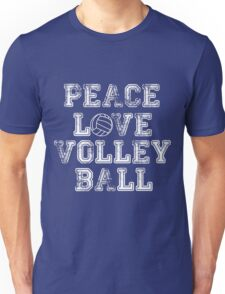 Peace, Love, Volleyball Unisex T-Shirt
