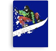Snow Surfer Canvas Print