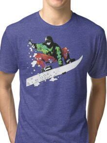 Snow Surfer Tri-blend T-Shirt