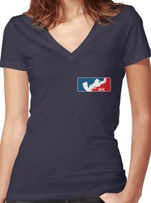 NYFE Racing (Small) Women's Fitted V-Neck T-Shirt