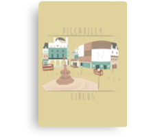 London - Piccadilly Circus Canvas Print