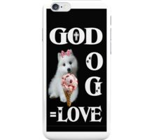 。◕‿◕。GOD+DOG = LOVE IPHONE CASE。◕‿◕。 iPhone Case/Skin