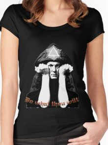 Aleister Crowley - Do what thou wilt Women's Fitted Scoop T-Shirt