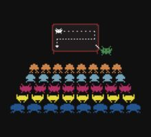 Retro T-Shirt - Space Invaders  One Piece - Short Sleeve