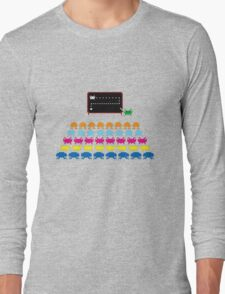 Retro T-Shirt - Space Invaders  Long Sleeve T-Shirt