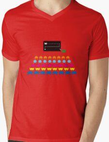 Retro T-Shirt - Space Invaders  Mens V-Neck T-Shirt