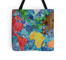 Spirograph world map Tote Bag