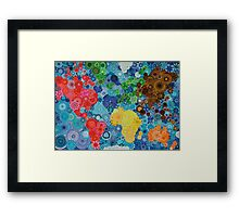 Spirograph world map Framed Print