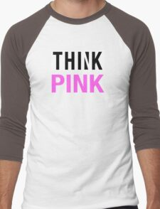 THINK PINK - Alternate Men's Baseball ¾ T-Shirt