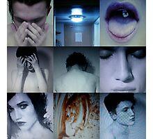 DARK BLUE PULSE Photographic Print